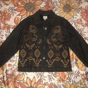 Chico's Denim jacket with embellishments